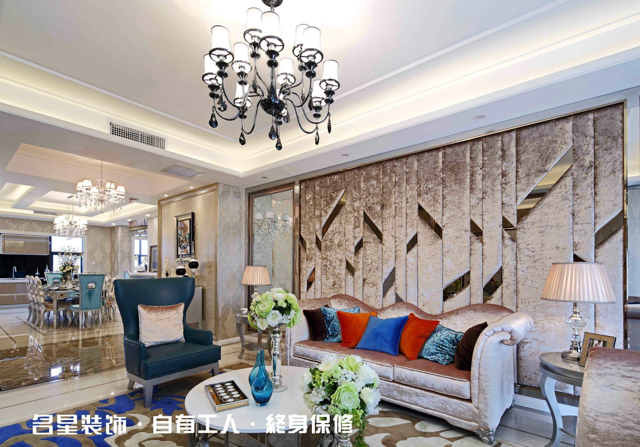 三居 欧式 低奢 客厅图片来自名星装饰在复地东湖国际的分享