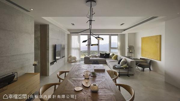 俞佳宏设计师以家具定义场域机能的转化,沙发背后巧设阅读工作区,不影响空间串联又能有独立功能。