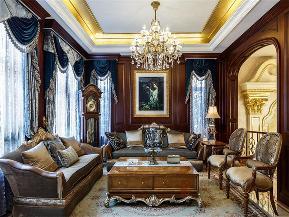 欧式 混搭 别墅 高帅富 大户型 白富美 客厅图片来自高度国际姚吉智在中海九号公馆580㎡第一眼就惊艳的分享