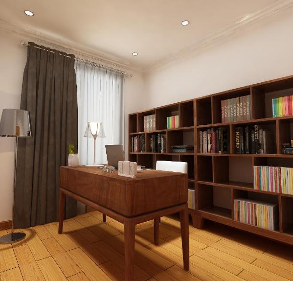 书房展现更多的是文艺气息,不用太大的书架去充斥整个房间,多了一份舒适感。 整个装修都围绕着北欧风的核心——简单而不简约。