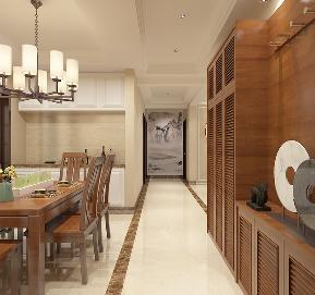 餐厅 厨房 餐厅图片来自石家庄大业美家装饰在150平纯棉时代-新中式风格的分享