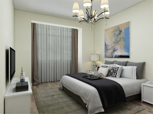 卧室部分与整体颜色相协调,简单明亮的色调对比使房间的格调非常温馨。所有卧室皆配有大型的窗户采光性极好,显得明亮大方。