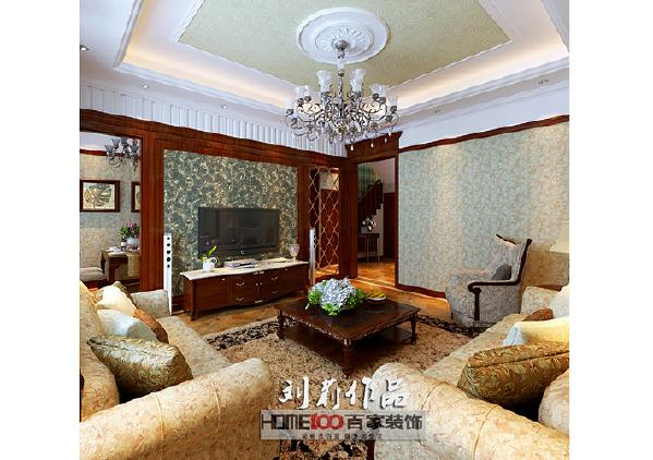 碧桂园200平复式阁楼美式风格