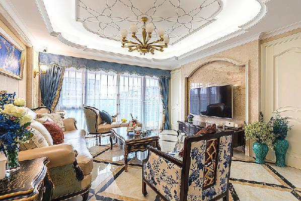沙发 窗帘 背景墙