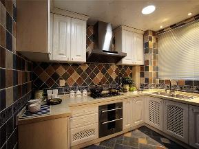 地中海 三居 白领 80后 小资 大户型 厨房图片来自高度国际姚吉智在140平米清新唯美地中海三居室的分享