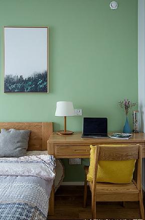 卧室图片来自家装大管家在原木打造99平温馨素雅北欧简约居的分享