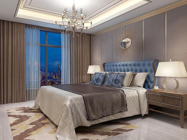 卧室的灯饰设计采用反射式灯光照明或局部灯光照明,置身其中,舒适、温馨的感觉袭人,让那为尘嚣所困的心灵找到了归宿