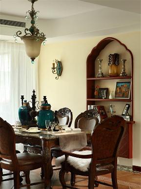 地中海 美式 混搭 大户型 80后 小资 高富帅 三居 餐厅图片来自高度国际姚吉智在176平米地中海美式不一样混搭美的分享