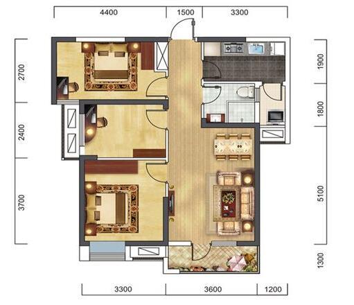 欧式 三居 白领 收纳 旧房改造 80后 小资 户型图图片来自乐粉_20160927144235439在福星惠誉红桥城-欧式风格的分享