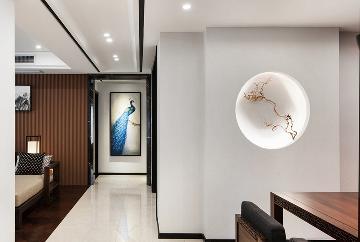 创之鸿装饰-房信彩虹城-新中式风