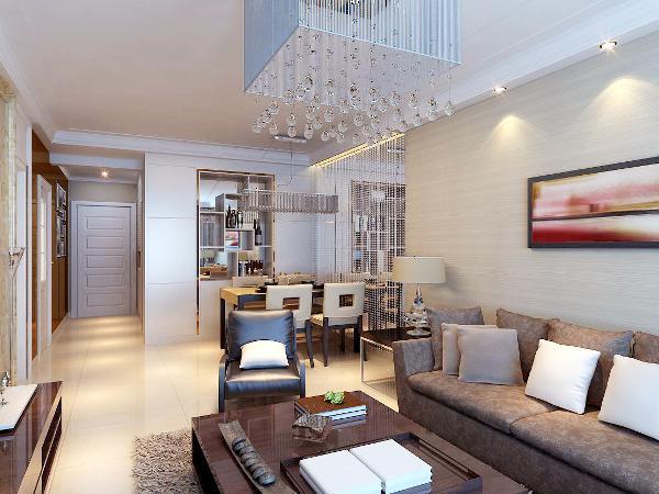 国际城140平—简欧风格—客厅装修效果图