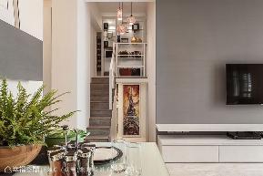 小户型 三居 现代 楼梯图片来自幸福空间在新婚夫妻の76平时尚雅居的分享
