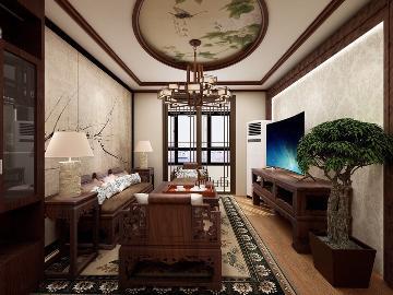格调小区 75㎡ 中式风格