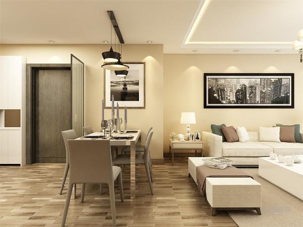 餐厅的设计很简约,墙上暖光不仅提升了家里的韵味,也让业主进餐的时候更加体会到家的温馨舒适,让业主成为家的一部分。