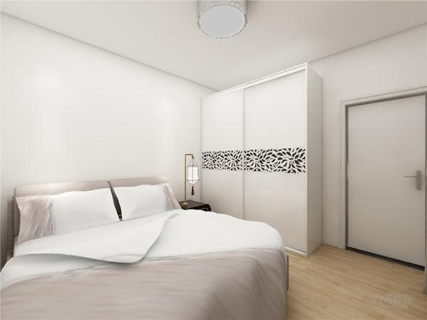 卧室的设计很简约,吊顶的设计画整为零,家具的选择较为简单,卧室的设计舒适典雅,家具的选择为明亮色彩,整体设计很舒适,适合居住。