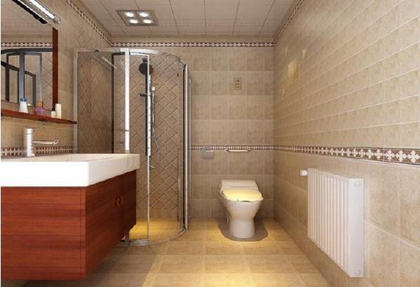 世华龙樾97平设计图-世华龙樾简欧效果图-卫生间效果图