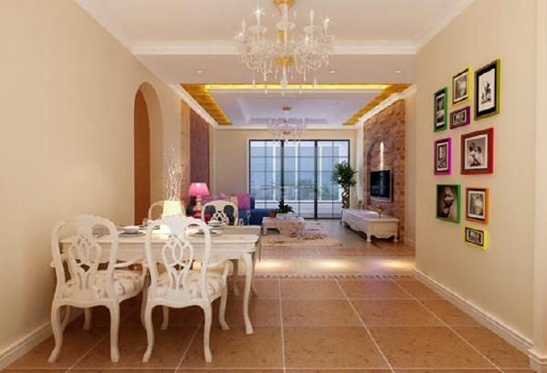 世华龙樾97平设计图-世华龙樾简欧效果图-客餐厅效果图