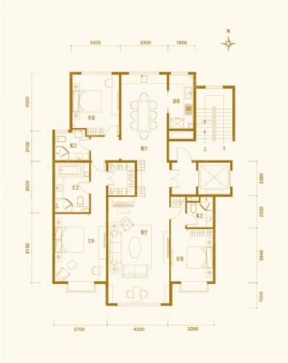 世华龙樾170平设计图-世华龙樾欧式效果图-户型图
