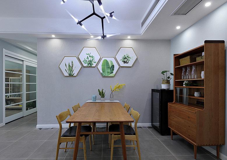 餐厅图片来自家装大管家在107平原木北欧3居 回归简单原味的分享