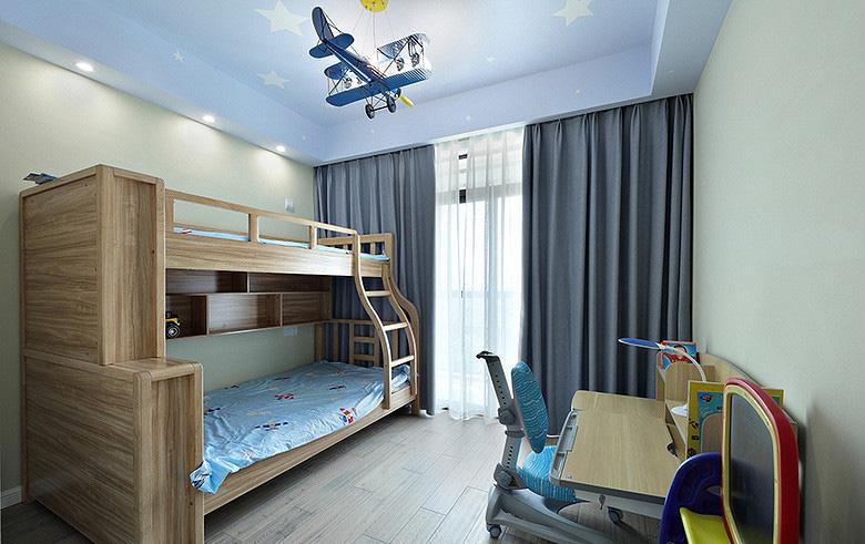 儿童房图片来自家装大管家在107平原木北欧3居 回归简单原味的分享