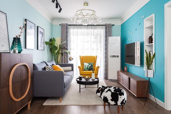 地中海 三居 80后 客厅图片来自金空间装饰集团在清爽•地中海的分享