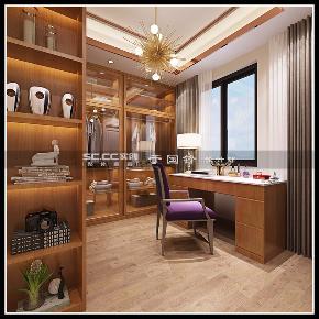 港式 别墅 世茂 玲珑台 书房图片来自实创装饰小彩在世茂玲珑台240平联排别墅的分享