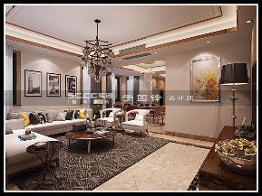 港式 别墅 世茂 玲珑台 客厅图片来自实创装饰小彩在世茂玲珑台240平联排别墅的分享