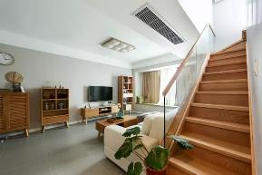 简约 北欧风格 三居 小资 80后 楼梯图片来自极装吉住装修在80㎡小复式,客厅大飘窗好好看!的分享