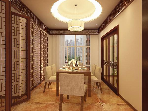 餐厅和客厅实了平行布置。其次,在通风与采光方面,客厅具有一个相对比较大的窗户,在这两个方面都相对比较优越,但餐厅比客厅更为靠里,所以在采光上缺少自然光,需要在后期设计时人为的增加光源。