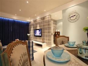 美式 三居 80后 小资 大户型 简美 白领 客厅图片来自高度国际姚吉智在148平米清新简美三居简而不凡的分享