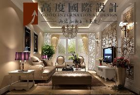 二居 美式 田园 客厅图片来自高度国际设计严振宇在K2百合湾两居室美式田园风格的分享