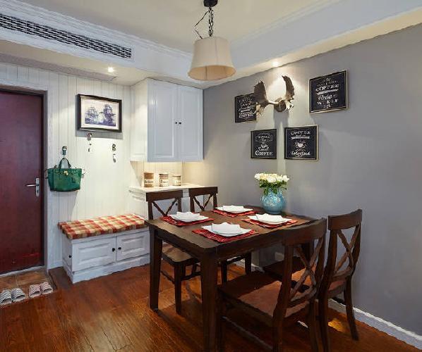 84㎡简约美式风格家居装修设计方案