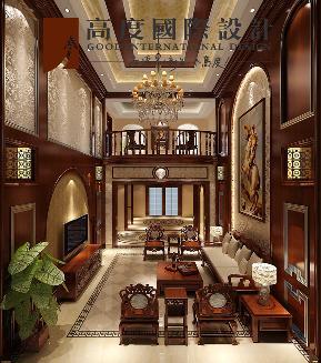 混搭 复古 别墅 客厅图片来自高度国际设计严振宇在旭辉御府267平米中西混搭复式的分享