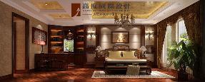 混搭 复古 别墅 卧室图片来自高度国际设计严振宇在旭辉御府267平米中西混搭复式的分享