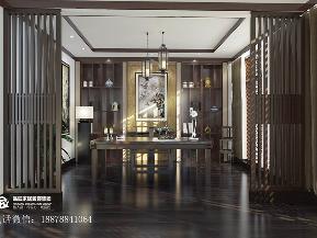 书房图片来自广西品匠装饰集团在恒大苹果园新中式风格装修案例的分享