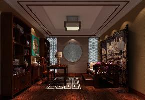 欧式 别墅 书房图片来自高度国际设计严振宇在西山壹号院四居室欧式风格的分享