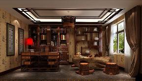 中式 三居 书房图片来自高度国际设计严振宇在金色漫香苑三室户新中式风格的分享