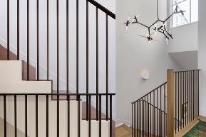 泷悦长安 简约 简美风格 别墅 楼梯图片来自别墅设计师杨洋在色彩跳跃,简美风格-泷悦长安的分享