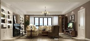 简约 美式 四居 客厅图片来自高度国际设计严振宇在果岭classs190平米简约美式风格的分享