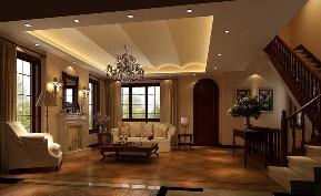 美式 古典 别墅 客厅图片来自高度国际设计严振宇在天竺新新家园美式新古典风格的分享