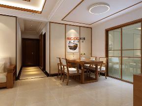 石家庄实创 石家庄装饰 石家庄装修 盛邦大都会 新中式案例 餐厅图片来自实创装饰石家庄在石家庄盛邦大都会120平新中式的分享
