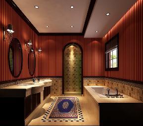 美式 古典 别墅 卫生间图片来自高度国际设计严振宇在天竺新新家园美式新古典风格的分享