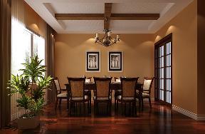欧式 别墅 餐厅图片来自高度国际设计严振宇在清凉盛景五室两厅简欧风格的分享