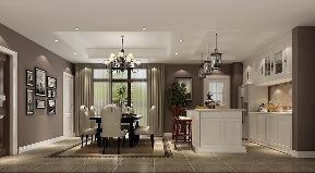 简约 美式 四居 餐厅图片来自高度国际设计严振宇在果岭classs190平米简约美式风格的分享