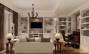 简约 美式 四居 书房图片来自高度国际设计严振宇在果岭classs190平米简约美式风格的分享