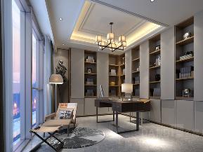 新中式 书房图片来自名雕丹迪在深圳湾壹号新中式风格450平别墅的分享