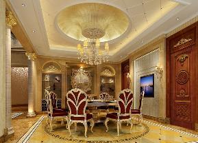 欧式 餐厅图片来自名雕丹迪在永康白垤里嘉园1000平别墅的分享