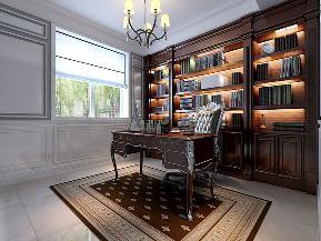 欧式 法式 三居 西安装修 小资 书房图片来自西安城市人家装饰王凯在高科麓湾146㎡浪漫法式风格的分享