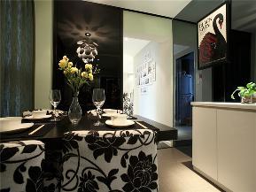 简约 三居 公寓 80后 小资 白领 餐厅图片来自高度国际姚吉智在130平米现代简约三居蓝精灵的分享