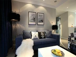 简约 三居 公寓 80后 小资 白领 客厅图片来自高度国际姚吉智在130平米现代简约三居蓝精灵的分享